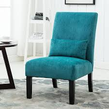 Teal Chair Amazoncom Roundhill Furniture Pisano Teal Blue Fabric Armless