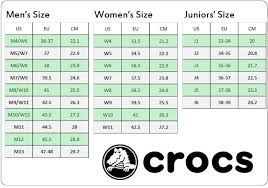 Crocs Size Chat Related Keywords Suggestions Crocs Size