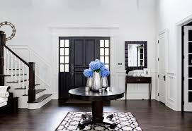 door entrance table entry traditional with raised panel door dark wood floor dark wood floor