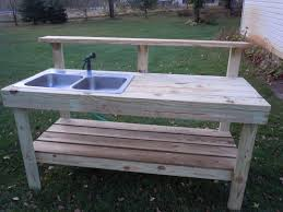 Potting Bench Plans Potting Bench Plans With Sink Home