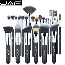 vegan makeup brushes. jaf vegan 24 pcs professional makeup brushes very soft synthetic taklon hair suitable gift metal box