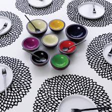 modern placemats modern placemats grey squiggles set of  il