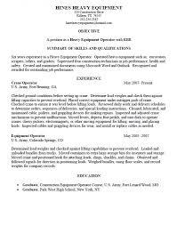 Heavy Equipment Operator Resume Creative Capture Summary Skills Of