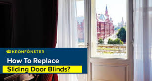how to replace sliding door blinds