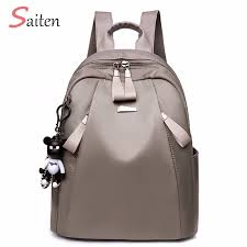 New <b>Bag</b> Waterproof <b>Oxford Women Backpack</b> Zipper School Bags ...
