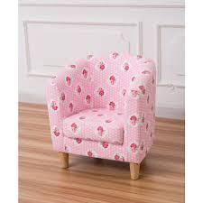 pink fl tub chair