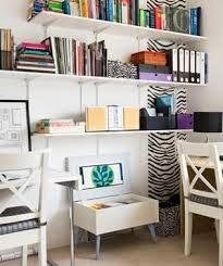 home office corner. corner home office with 2 desks and zebra accents e