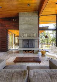 fantastic modern house lighting. Interactive Home Interior Decor With Various Modern Stone Fireplace : Fantastic Image Of Living House Lighting -