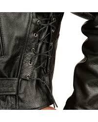 interstate leather men s ryder motorcycle jacket black hi res