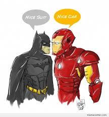 Batman and Ironman by ben - Meme Center via Relatably.com