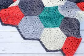 Free Crochet Afghan Patterns Amazing Happy Hexagons Free Crochet Afghan Pattern Make Do Crew