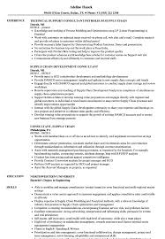 Consultant Supply Chain Resume Samples Velvet Jobs