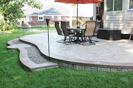 stamped concrete patios unique cement photos michigan