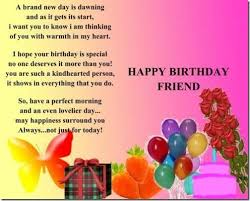 happy birthday friend poem poem for my