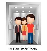 people in elevator clipart. silhouette colorful with people in elevator vectorclipart can stock photo