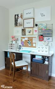 Office wall prints Advertising Company Home Office Gallery Wall And Desk Work Space Diy Playbook Office Gallery Wall Artwork Free Printables Diy Playbook