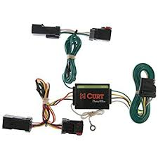 amazon com reese plug and play hitch wiring trailer lights for curt 55382 custom wiring harness