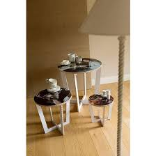 round table with removable tray white