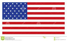 American Flag Website Background Usa American Flag Vector Illustration On White Background
