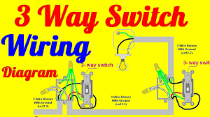 3 way switch wiring diagrams how to install youtube Three Way Dimmer Switch Diagram 3 way switch wiring diagrams how to install three way dimmer switch wiring diagram