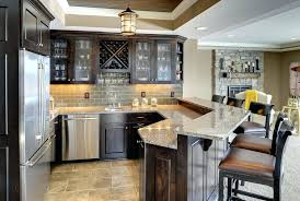 Diy Wet Bars Home Bar Cabinet Home Bar Traditional With Stone Tile