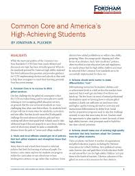 mon core and america s high achieving students the thomas b fordham insute