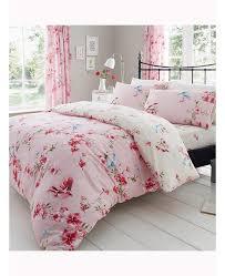 pink bir blossom fl single duvet cover and pillowcase set