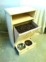 elevated dog bowls with storage feeder pet raised station designer diner adjustable feeding double bowl diy