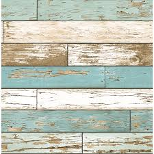 brewster wallcovering reclaimed 56 sq ft turquoise non woven textured wood 3d wallpaper