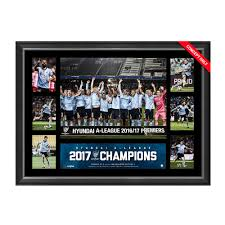 sydney fc hyundai a league 2017 chions tribute frame