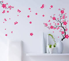 diy wall decor for bedroom. Butterfly Flower Tree TV Bedroom Home Decor Wall Sticker Diy Bathroom Mirror Vinyl Poster Decoration For E