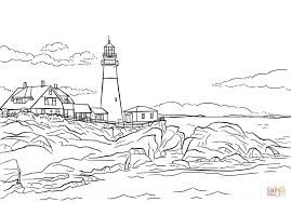 Small Picture Portland Lighthouse Maine coloring page Free Printable Coloring