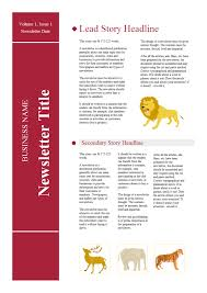 School Newsletter Free School Newsletter Templates
