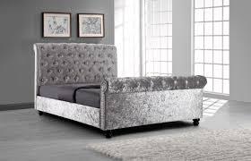 black upholstered sleigh bed. Sophia Upholstered Sleigh Bed Black