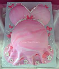 9 Baby Shower Cakes Flowers Butterflies Photo Girl Baby Shower