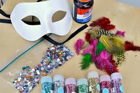 Mask Decorating Supplies DIY decorated masquerade mask you can make in minutes 1