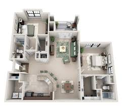 Two Bedroom Apartment Plan Creative
