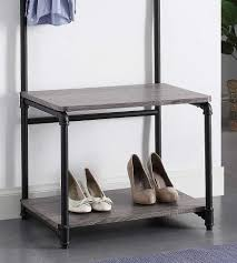 Pipe Coat Rack Bench Design Pipe Style Foyer Bench And Coat Rack In Entryway 57