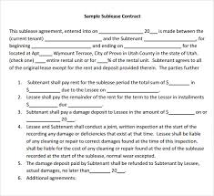 Office Sublease Agreement Template - Mikezitompc.com