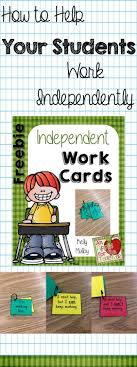 independent work cards to help your students work independently independent work cards to help your students work independently