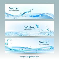free banner backgrounds water banner backgrounds vector free download