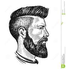 портрет нарисованный рукой человека в профиле эскиз битника