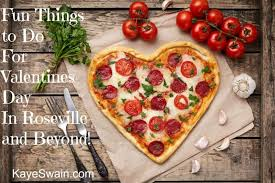 kaye swain roseville real estate agent sharing heart shaped pizzas for valentines day on and off