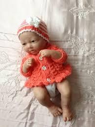 "Hand knitted dolls clothes to <b>fit 10</b>"" doll/<b>reborn baby</b>/Ashton Drake ..."
