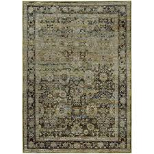 8 x 11 large green and brown area rug andorra rc willey furniture