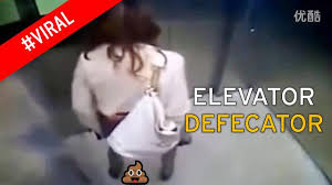 smartly dressed w does massive poo in lift then walks away video loading
