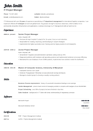 Professional It Resume Template Job Winning Resume Templates