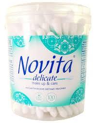 Купить <b>Ватные палочки Novita Delicate</b> Make up & care ...