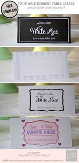 Table Labels Template Dessert Table Labels Template Free Download Wedding