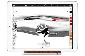 ipad pro and apple pencil app sketchbook express